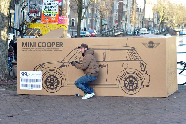 Mini Cooper Boxes In Amsterdam