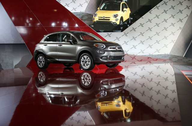 The Fiat 500X is seen during its North American debut at the Los Angeles Auto Show in Los Angeles, California November 20, 2014. (Photo by Lucy Nicholson/Reuters)