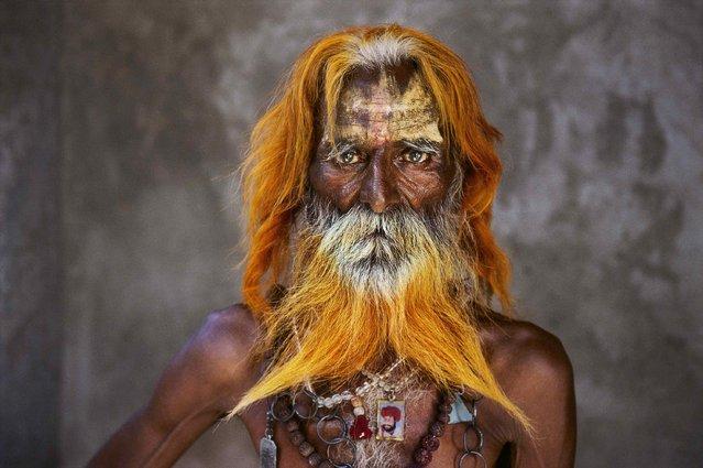 A rabari tribal elder, Rajasthan, 2010. (Photo by Steve McCurry)
