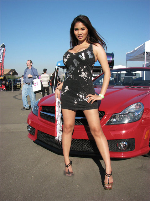 """Xena Kai at the 2Crave booth at AutoCon in Irvine, California"". (Photo by Brett Hampton)"