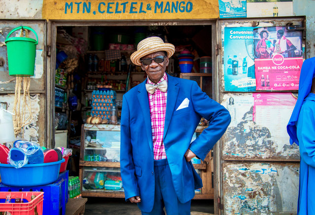 """""""Portrait of Henry Chiyumba, 91. I met Henry on a recent trip to Uganda to photograph for a medical NGO. He was just leaving the hospital and was dressed with such style that I felt compelled to chat and asked to take his portrait. He told me he was a professional football player when he was young"""". (Photo by Rod Penn/The Guardian)"""