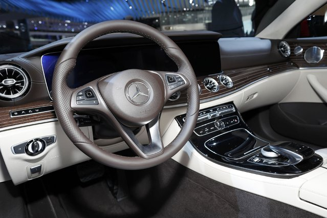 Interior view of the 2018 E400 4Matic Coupe being displayed during the North American International Auto Show in Detroit, Michigan, U.S., January 10, 2017. (Photo by Mark Blinch/Reuters)
