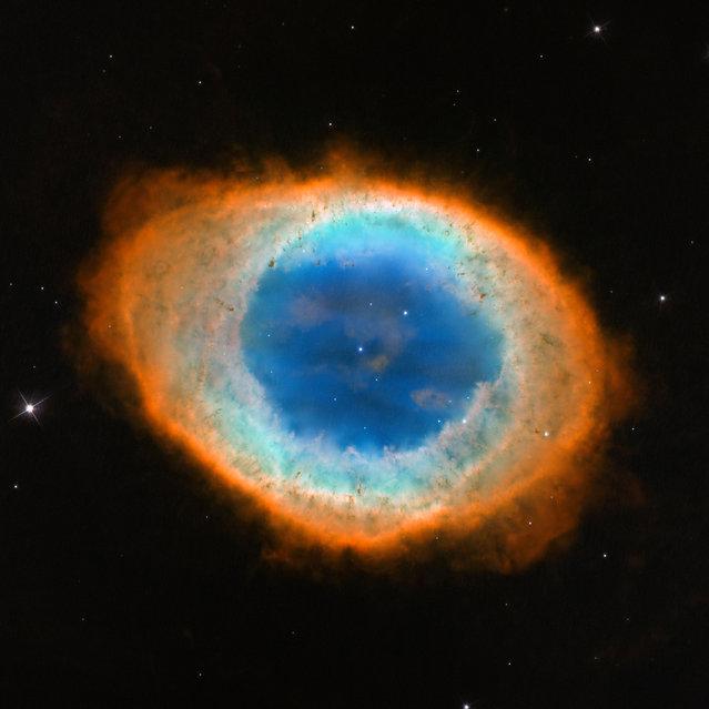 This image made by the NASA/ESA Hubble Space Telescope shows Messier 57, the Ring Nebula. (Photo by NASA/ESA, C. Robert O'Dell (Vanderbilt University) via AP Photo)