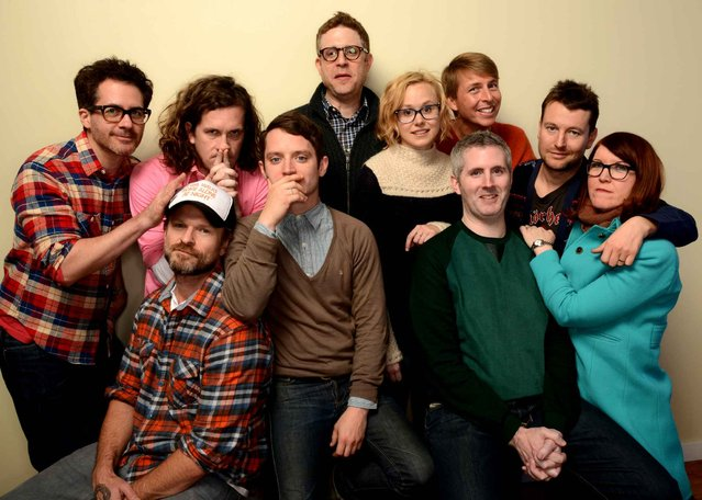 "The cast and crew of ""Cooties"" pose for a portrait during the 2014 Sundance Film Festival at the WireImage Portrait Studio at the Village At The Lift on January 19, 2014 in Park City, Utah. (Photo by Larry Busacca/AFP Photo)"