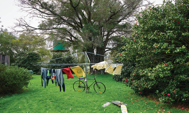 The Bussell family clothesline in the Margaret River. The family's ancestors were early settlers in the region; the town of Busselton is named in their honour. (Photo by Frances Andrijich)