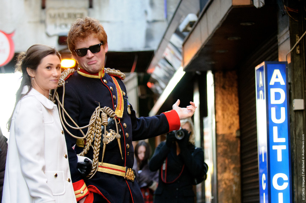 """Prince Harry And Pippa Middleton Look-a-likes Stage A Walkabout In Soho To Promote Alison Jackson's New Book """"EXPOSED"""""""