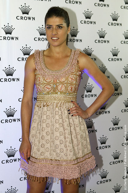 Sorana Cirstea of Romania arrives at the 2012 Australian open Players Party