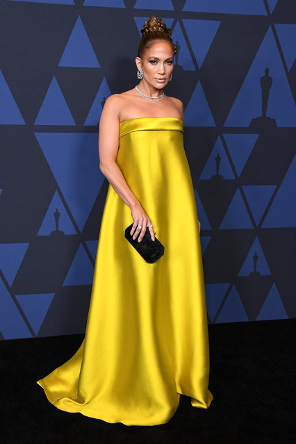 Jennifer Lopez arrives at the Academy Of Motion Picture Arts And Sciences' 11th Annual Governors Awards at The Ray Dolby Ballroom at Hollywood & Highland Center on October 27, 2019 in Hollywood, California. (Photo by Steve Granitz/WireImage)
