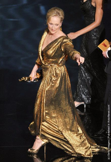 Actress Meryl Streep accepts the Best Actress Award for 'The Iron Lady' onstage during the 84th Annual Academy Awards held at the Hollywood & Highland Center