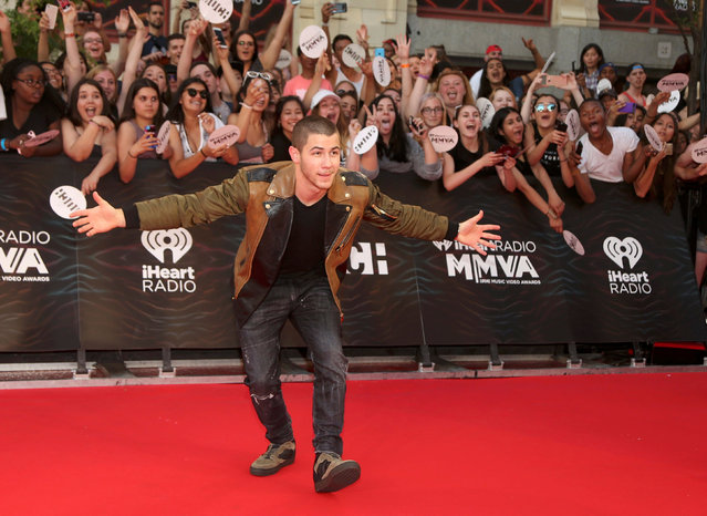 Singer Nick Jonas arrives for the iHeartRadio Much Music Video Awards (MMVAs) in Toronto, Ontario, Canada June 19, 2016. (Photo by Peter Power/Reuters)