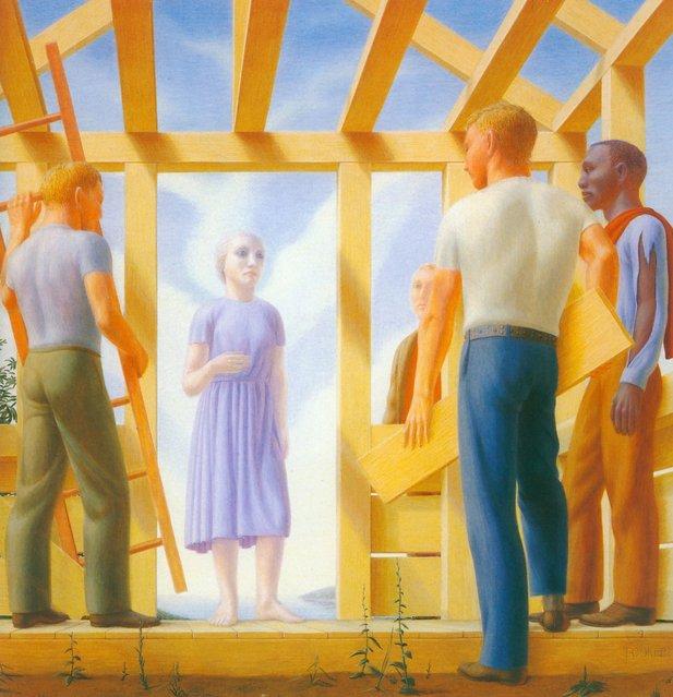 Builders. Artwork by George Tooker