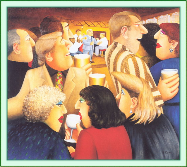 Jazz Pub. Artwork by Beryl Cook