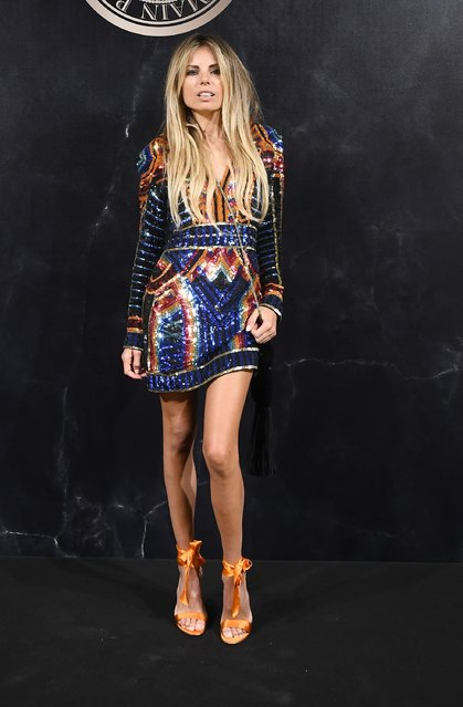 Erica Pelosini attends the L'Oreal Paris X Balmain event as part of the Paris Fashion Week Womenswear  Spring/Summer 2018 on September 28, 2017 in Paris, France. (Photo by Pascal Le Segretain/Getty Images)