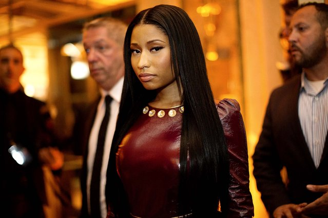 Nicky Minaj at the Plaza Hotel, where Harper's Bazaar hosted a party during New York Fashion Week, September 5, 2014. Lady Gaga performed at the party. (Photo by Julie Glassberg/The New York Times)
