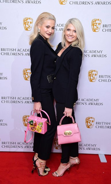 Pixie Lott (L) and Charlie-Ann Lott attend the BAFTA Children's Awards at The Roundhouse on November 26, 2017 in London, England. (Photo by David M. Benett/Dave Benett/Getty Images)