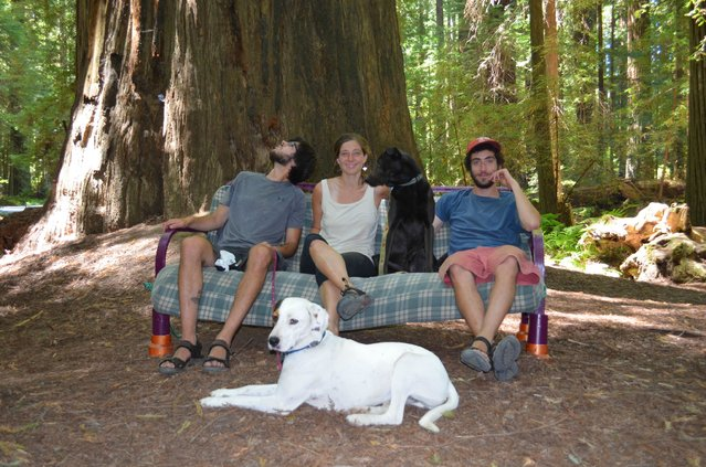 Here the group is seen at Mount Baker, Wash. (Photo by Caters News)