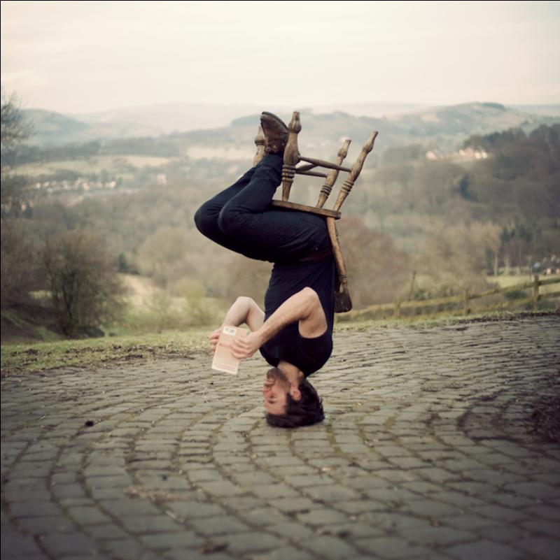 Upside-Down Self-Portraits by Caulton Morris