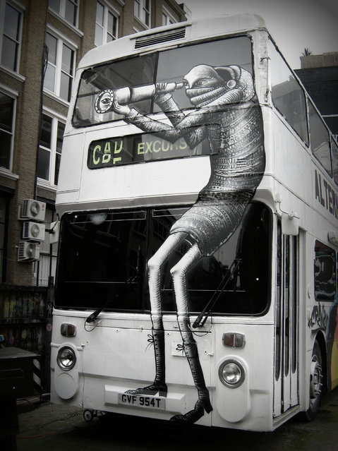 """""""Phlegm"""", UK. (Photo by Mike Panayi)"""