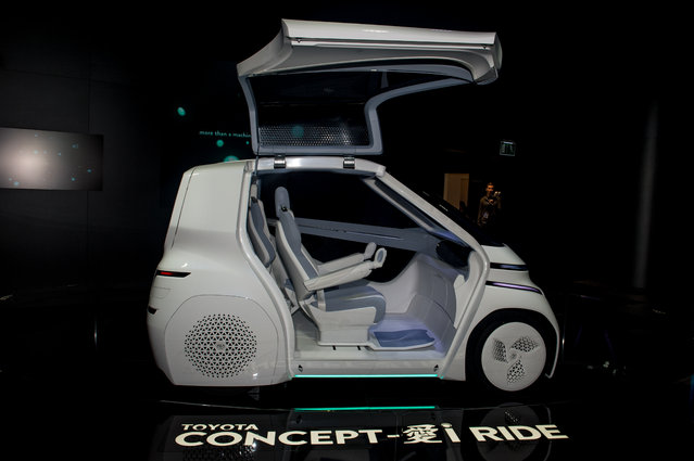 Toyota Concept-i Ride is displayed at the 88th Geneva International Motor Show on March 6, 2018 in Geneva, Switzerland. Global automakers are converging on the show as many seek to roll out viable, mass-production alternatives to the traditional combustion engine, especially in the form of electric cars. The Geneva auto show is also the premiere venue for luxury sports cars and imaginative prototypes. (Photo by Robert Hradil/Getty Images)