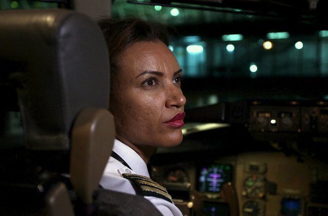 Ethiopian Airlines' first female captain Amsale Gualu prepares the plane for takeoff at Bole international airport in the capital Addis Ababa, November 19, 2015. (Photo by Tiksa Negeri/Reuters)
