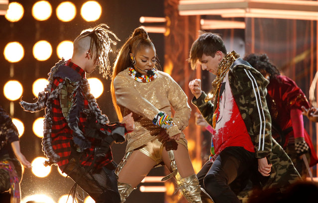 Icon award winner Janet Jackson performs a medley at the Billboard Music Awards at the MGM Grand Garden Arena on Sunday, May 20, 2018, in Las Vegas, Nevada, U.S. (Photo by Mario Anzuoni/Reuters)