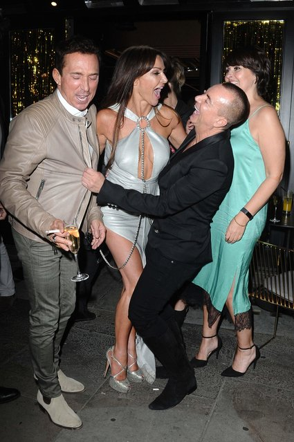 The UK socialite and TV presenter Lizzie Cundy attending her 48th Birthday party at Caramel on June 12, 2018 in London, England. (Photo by Splash News and Pictures)