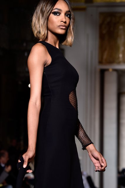 Model Jourdan Dunn walks the runway during the Versace show as part of Paris Fashion Week Haute Couture Spring/Summer 2015 on January 25, 2015 in Paris, France. (Photo by Pascal Le Segretain/Getty Images)