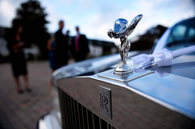 """The """"Spirit of Ecstacy"""" adorns a Rolls-Royce in Gretna, Scotland. (Photo by Jeff J. Mitchell/Getty Images)"""