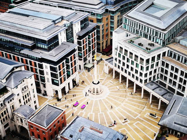 """""""Paternoster Square, London, taken from the top of St Paul's Cathedral"""". (Photo by Antonino Provenzano/The Guardian)"""