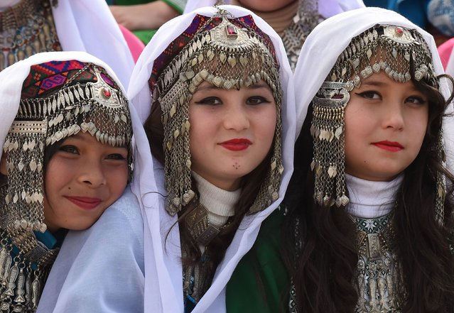 Pakistani girls gather during a rehearsal for the Pakistan Day celebrations in Quetta on March 22, 2015. (Photo by Banaras Khan/AFP Photo)