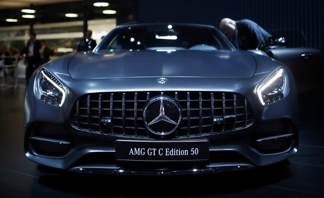 A 2018 Mercedes AMG GT C Edition 50 is displayed during the North American International Auto Show in Detroit, Michigan, U.S., January 10, 2017. (Photo by Mark Blinch/Reuters)