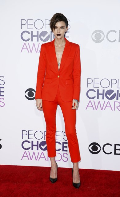 Actress Ruby Rose arrives at the People's Choice Awards 2017 in Los Angeles, California, U.S., January 18, 2017. (Photo by Danny Moloshok/Reuters)