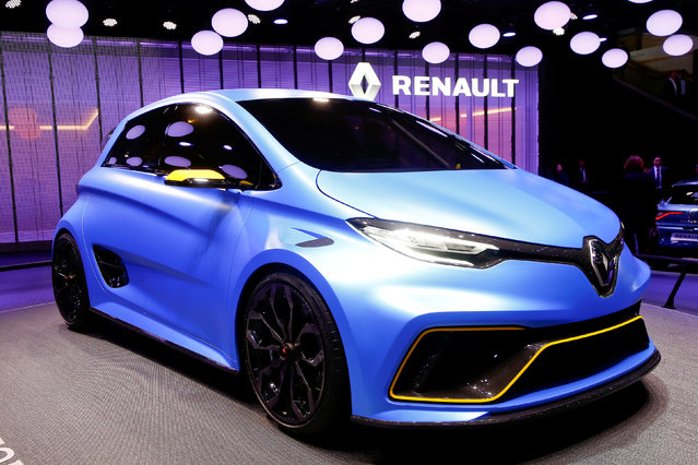 A Renault Zoe E-Sport concept car is seen during the 87th International Motor Show at Palexpo in Geneva, Switzerland March 8, 2017. (Photo by Arnd Wiegmann/Reuters)