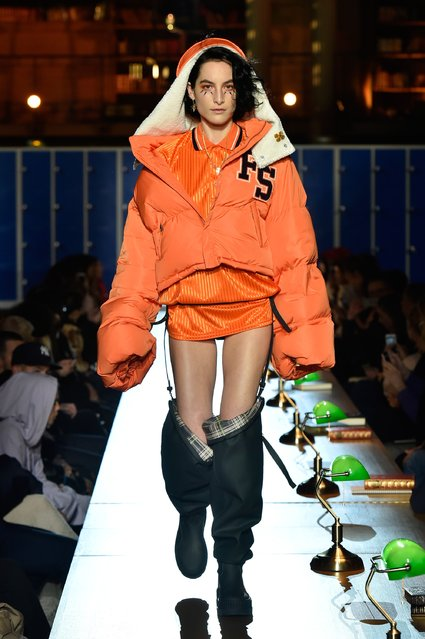 A model walks the runway during FENTY PUMA by Rihanna Fall / Winter 2017 Collection at Bibliotheque Nationale de France on March 6, 2017 in Paris, France. (Photo by Kristy Sparow/Getty Images for Fenty Puma)