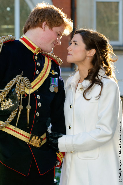 Prince Harry and Pippa Middleton look-a-likes stage a walkabout In Soho to launch Alison Jackson's new book 'EXPOSED' in London, England