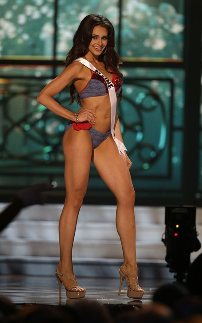 Miss Maine Heather Elwell competes in the swimsuit competition during the preliminary round of the 2015 Miss USA Pageant in Baton Rouge, La., Wednesday, July 8, 2015. (Photo by Gerald Herbert/AP Photo)