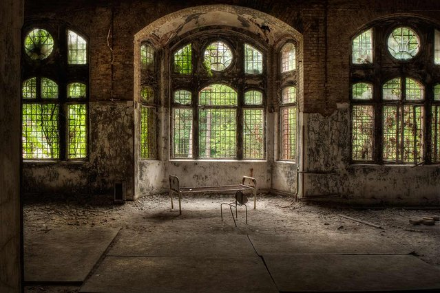 A former hospital complex in Germany, with more than 60 buildings in decay. (Photo by Vincent Jansen)