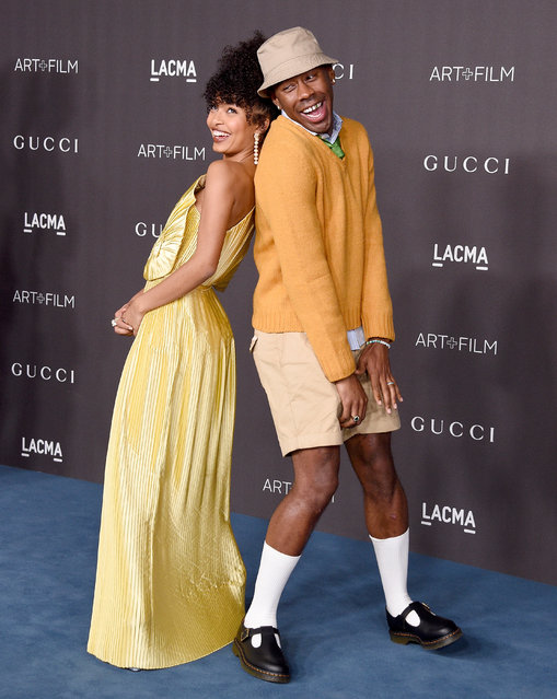 Yara Shahidi and Tyler, The Creator arrive at the 2019 LACMA Art + Film Gala Presented By Gucci on November 2, 2019 in Los Angeles, California.  (Photo by Gregg DeGuire/FilmMagic)