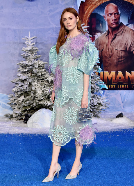 """Karen Gillan attends the premiere of Sony Pictures' """"Jumanji: The Next Level"""" on December 09, 2019 in Hollywood, California. (Photo by Axelle/Bauer-Griffin/FilmMagic)"""