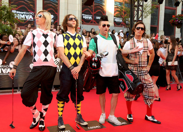 The band Marianas Trench arrives for the iHeartRadio Much Music Video Awards (MMVAs) in Toronto, Ontario, Canada June 19, 2016. (Photo by Peter Power/Reuters)