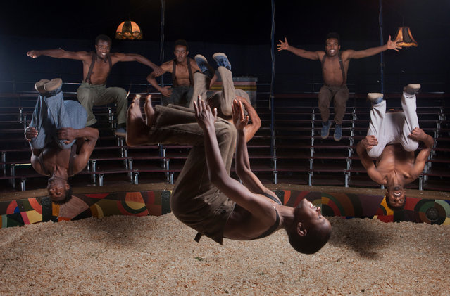 The incredible, gravity-defying Konjowoch Troupe. (Photo by Tom Pilston/The Guardian)