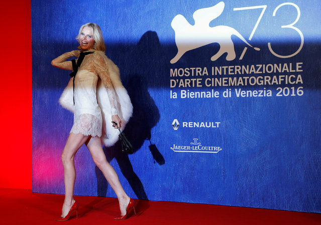 """Model Eva Herzigova attends the red carpet for the movie """"Franca: Chaos and Creation"""" at the 73rd Venice Film Festival in Venice, Italy September 2, 2016. (Photo by Alessandro Bianchi/Reuters)"""