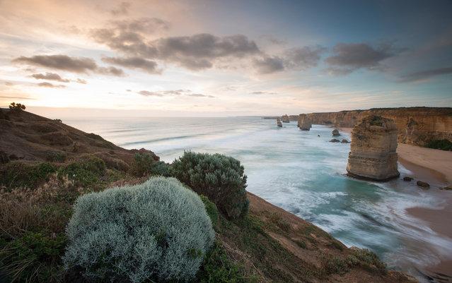"""Great Ocean Sunset"". Sunset at the 12 apostles on the Great Ocean Road capped off an amazing trip with friends from Melbourne I had met just a few months ago in Malaysia. Photo location: Great Ocean Road, Australia. (Photo and caption by Walter Chang/National Geographic Photo Contest)"