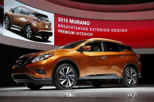 The 2015 Nissan Murano crossover vehicle is seen in its North American debut at the Los Angeles Auto Show in Los Angeles, California November 20, 2014. (Photo by Lucy Nicholson/Reuters)