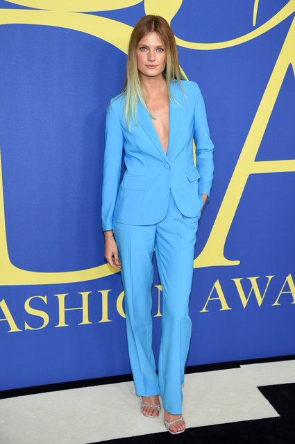 Constance Jablonski attends the 2018 CFDA Fashion Awards at Brooklyn Museum on June 4, 2018 in New York City. (Photo by Dimitrios Kambouris/Getty Images)