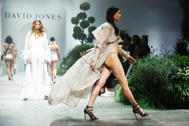 Jessica Gomes showcases designs by Jessica Gomes for Jets during the David Jones Spring Summer 18 Collections Launch at Fox Studios on August 8, 2018 in Sydney, Australia. (Photo by Mark Metcalfe/Getty Images for David Jones)
