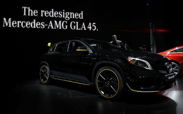 A 2018 Mercedes-AMG GLA 45 is displayed during the North American International Auto Show in Detroit, Michigan, U.S., January 10, 2017. (Photo by Mark Blinch/Reuters)