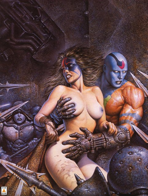 Cover for Heavy Metal Magazine. Artwork by Oscar Chichoni