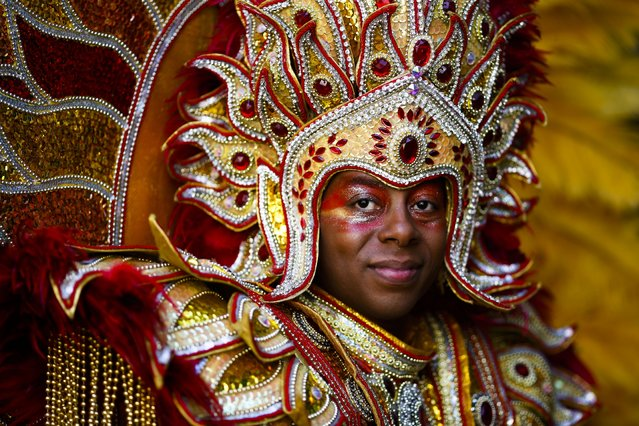 A samba dancer attends at the annual Carnival of Cultures parade in Berlin, Germany, Sunday, May 24, 2015. (Photo by Markus Schreiber/AP Photo)