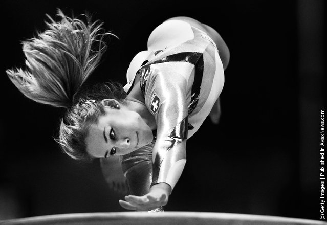 Giulia Steingruber of Switzerland competes in the Vault apparatus final during day nine of the Artistic Gymnastics World Championships Tokyo 2011
